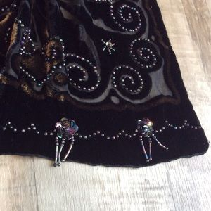 Accessories - Beaded silk scarf